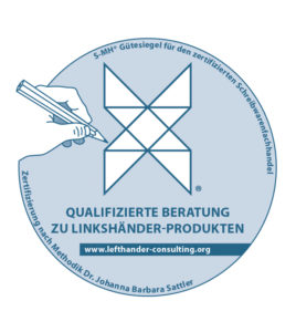 S-MH®Gütesiegelzur Beratungzu Linkshänder-Produktennach MethodikDr. Johanna Barbara Sattler